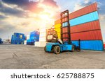 industrial container yard for... | Shutterstock . vector #625788875