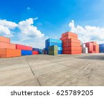 industrial container yard for... | Shutterstock . vector #625789205