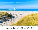 Entrance Among Grass Sand Dune...