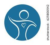 person silhouette heart... | Shutterstock .eps vector #625800542