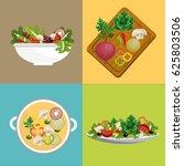 delicious fresh vegetable... | Shutterstock .eps vector #625803506