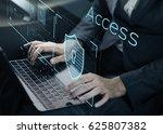 man working on laptop network... | Shutterstock . vector #625807382