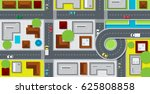 city map with buildings and... | Shutterstock .eps vector #625808858
