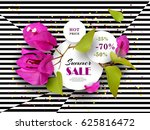 summer sale. discounts. end of... | Shutterstock .eps vector #625816472