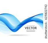 nice background with blue waves ... | Shutterstock .eps vector #625822742
