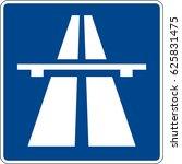 autobahn. vector road sign... | Shutterstock .eps vector #625831475
