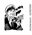ship's captain   retro clipart... | Shutterstock .eps vector #62583580
