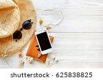 summer travel vacation concept... | Shutterstock . vector #625838825