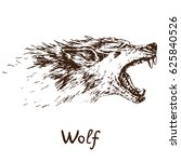 gray wolf  timber wolf or...   Shutterstock .eps vector #625840526