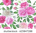 seamless floral pattern with... | Shutterstock . vector #625847288