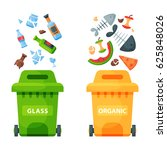 recycling garbage elements... | Shutterstock .eps vector #625848026