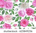 seamless floral pattern with... | Shutterstock . vector #625849256