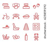 Baby Icons Set. Set Of 16 Baby...