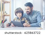 father and son playing with... | Shutterstock . vector #625863722