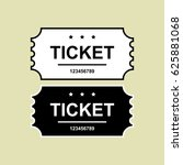 set of ticket icon isolated.... | Shutterstock .eps vector #625881068
