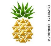 pineapple on white background.... | Shutterstock .eps vector #625882436