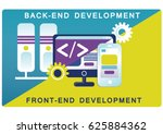 back end and front end... | Shutterstock .eps vector #625884362