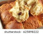 fresh buns with raisins | Shutterstock . vector #625898222