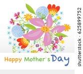 happy mothers day | Shutterstock .eps vector #625899752