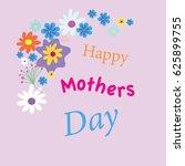happy mothers day | Shutterstock .eps vector #625899755