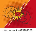 versus rivalry fist vector... | Shutterstock .eps vector #625901528
