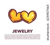golden jewelry hearts   Shutterstock .eps vector #625907465