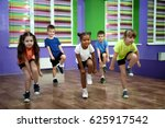 Stock photo group of children dancing in choreography class 625917542