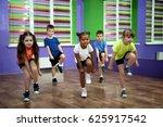 group of children dancing in... | Shutterstock . vector #625917542