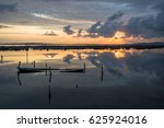 sunset at sea  | Shutterstock . vector #625924016