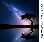 night scene with milky way and... | Shutterstock . vector #625926452