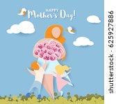 beautiful women with her...   Shutterstock .eps vector #625927886