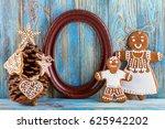 still life of gingerbread ... | Shutterstock . vector #625942202