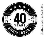 40 years anniversary logo... | Shutterstock .eps vector #625945445