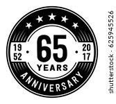 65 years anniversary logo...   Shutterstock .eps vector #625945526