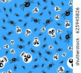 spiders and skulls pattern for... | Shutterstock .eps vector #625945826