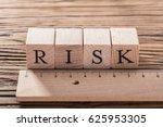 Risk Word On Blocks Arranged...