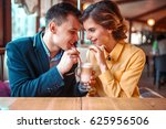 couple drink a cocktail... | Shutterstock . vector #625956506