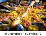 spanish national seafood dish | Shutterstock . vector #625956842