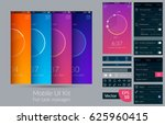 mobile ui kit for task manager... | Shutterstock .eps vector #625960415