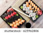 the sushi on the table in the... | Shutterstock . vector #625962806