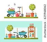 concept of gardening. garden... | Shutterstock .eps vector #625968062