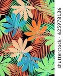 tropical leaves | Shutterstock . vector #625978136