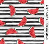 water melon seamless pattern...   Shutterstock .eps vector #625989575