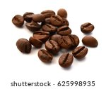roasted coffee beans isolated... | Shutterstock . vector #625998935