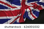 United Kingdom Flag Wrinkled O...
