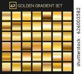 metal golden gradients. vector... | Shutterstock .eps vector #626003582