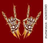 skeleton bones hands heavy... | Shutterstock .eps vector #626003585