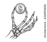 Skeleton Hand With Coin Hand...