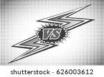 versus letters background in... | Shutterstock .eps vector #626003612