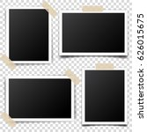 photo card frame film set.... | Shutterstock .eps vector #626015675